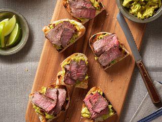 Spicy Steak & Avocado Bruchetta