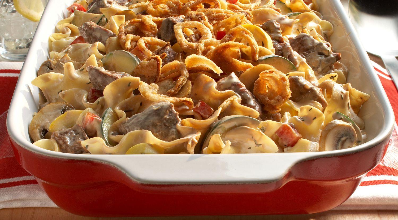 Easy Beef & Mushroom Noodle Bake