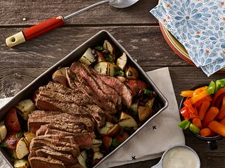 Cuban-Style Grilled Beef & Potato Salad