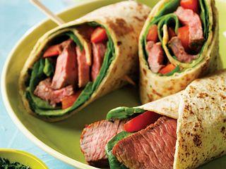 Chimichurri Steak Wraps