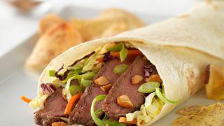 East West Flank Steak Wraps
