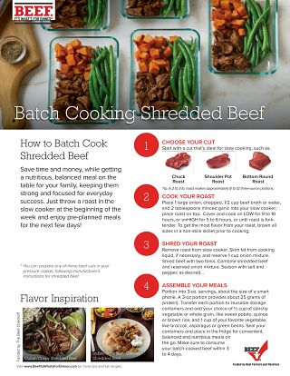 How To Batch Cook Shredded Beef