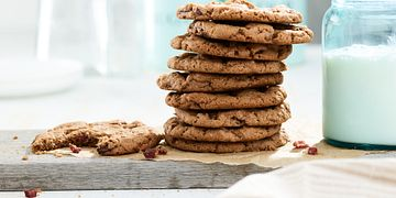 Peanut Butter, Chocolate-Hazelnut and Chocolate Chip Beef Jerky Cookies