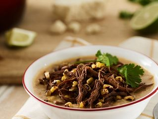 Smoked Beef Brisket and Corn Chowder