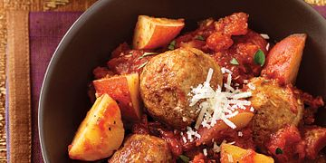 Saucy Skillet Meatballs and Potatoes