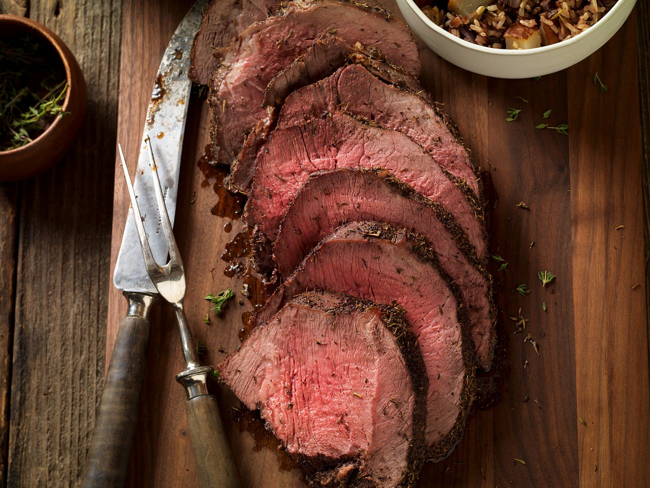 thyme-rubbed-beef-round-tip-with-roasted-onion-and-pear-wild-rice-horizontal