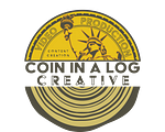 Coin in a Log Logo