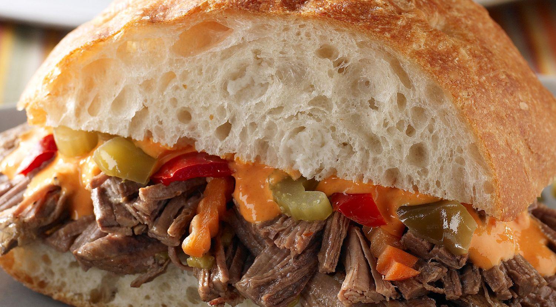 Spicy Braised Brisket Sandwiches