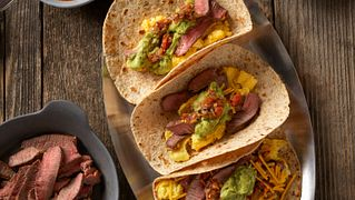 Steak and Eggs Breakfast Taco