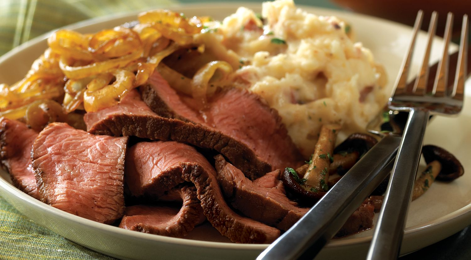 Spicy-Sweet Steaks and Onions