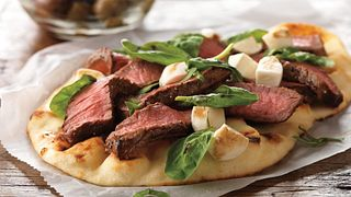 Grilled Steak and Fresh Mozzarella Flatbread