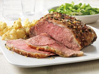 Herb-Topped Beef Roast with Roasted Cauliflower
