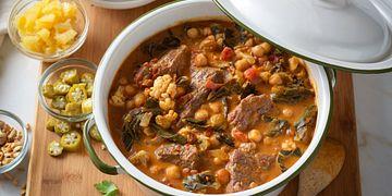 North African Harissa-Braised Beef Stew