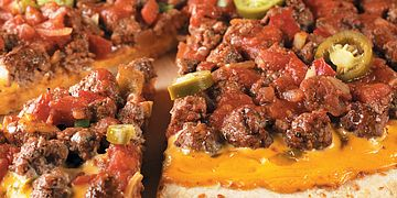 Spicy Nacho Beef Pizza