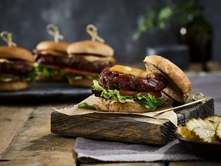 Beef Jerky Burger Sliders