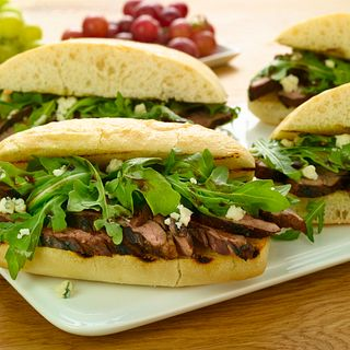 Balsamic and Blue Cheese Steak Sandwich