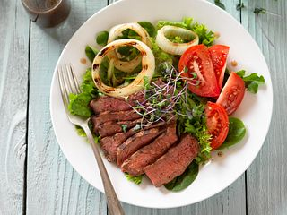 Sirloin Steak and Tomato Salad