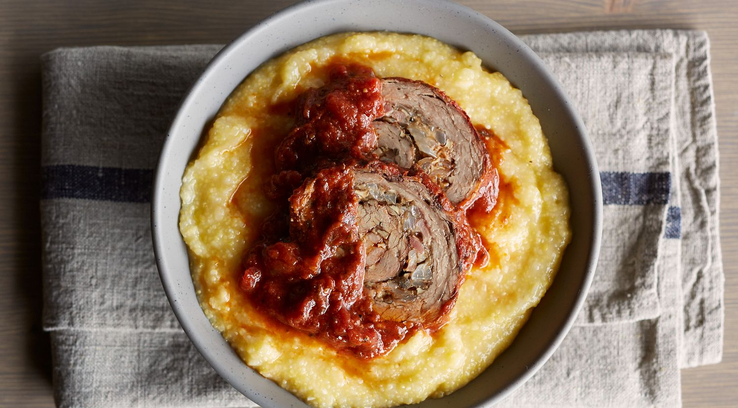 Slow-Cooked Beef and Mushroom Braciole