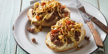 German-Style Beef Baked Potato