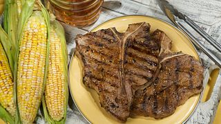 Santa Fe Grilled Beef Steaks & Corn