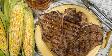 Santa Fe Grilled Beef Steaks & Corn
