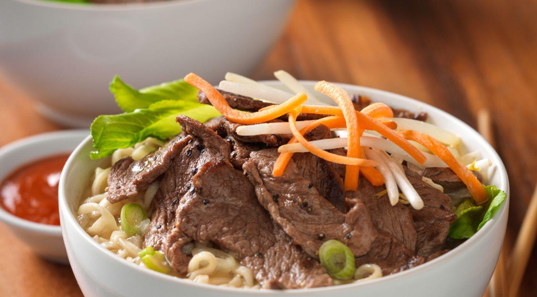 Beef Ramen Noodle Bowl