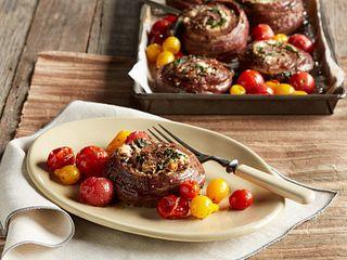 One Sheet Pan Mediterranean Beef Pinwheels