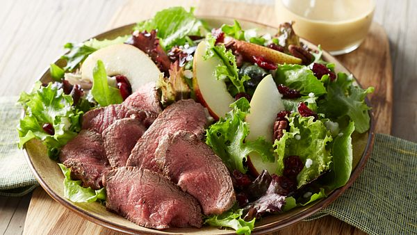 tenderloin-cranberry-and-pear-salad-with-honey-mustard-dressing-horizontal