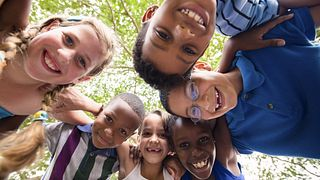 group of children smiling