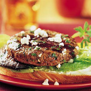 Mushroom Merlot Burgers