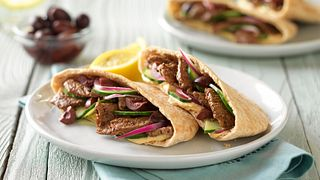 Greek-Style Beef Pita