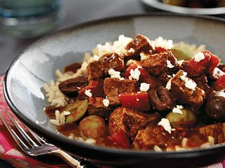 Mediterranean Beef with Mixed Olives and Feta