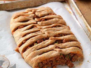 Italian Beef Sausage Stromboli