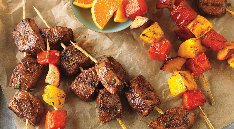 Citrus-Marinated Beef Top Sirloin & Fruit Kabobs