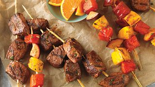 Citrus-Marinated Beef Top Sirloin & Fruit Kabobs