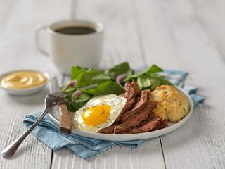 Southern Skirt Steak Benedict