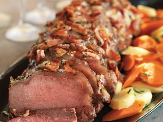 Bacon & Herb Topped Beef Roast