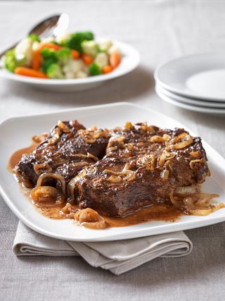 Slow-Cooked Mediterranean Braised Beef