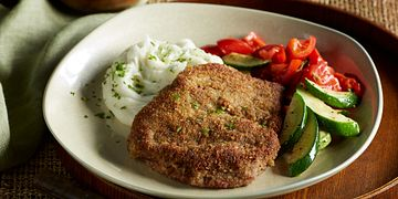 Country-Fried Steaks with Tomato-Basil Sauce