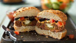 Cheesy Jalapeño Pepper-Stuffed Burgers