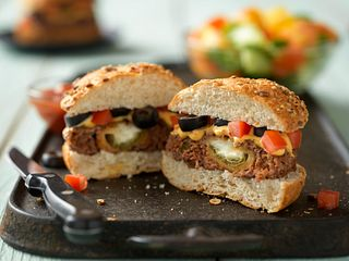 Cheesy Jalapeno Pepper-Stuffed Burgers