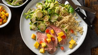 Grilled Beef Tri-Tip with Tropical Fruit Salsa