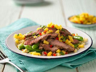 Grilled Steak with Mango Salsa