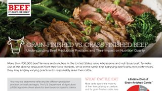 Grain finished vs grass finished beef