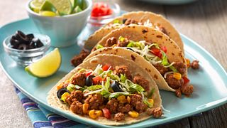 Confetti Beef Tacos Horizontal