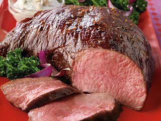 Hearty Glazed Tri-Tip Roast with Creamy Gorgonzola Sauce