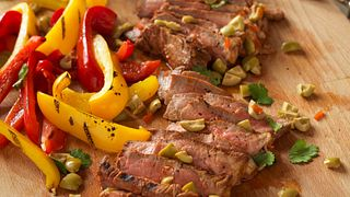 Spanish-Style Grilled Steaks with Olives