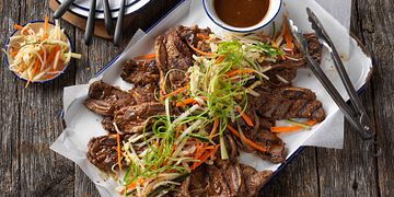 Korean-Style Beef Short Ribs with Pickled Vegetables