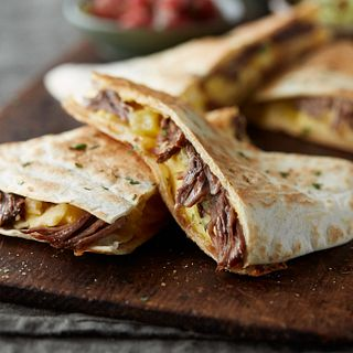 Shredded Beef & Egg Quesadillas