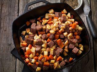 Beef Steak and Root Vegetable Hash